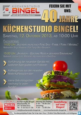 Flyer - 40 Jahre Küchenstudio Bingel - Programm Vorführung