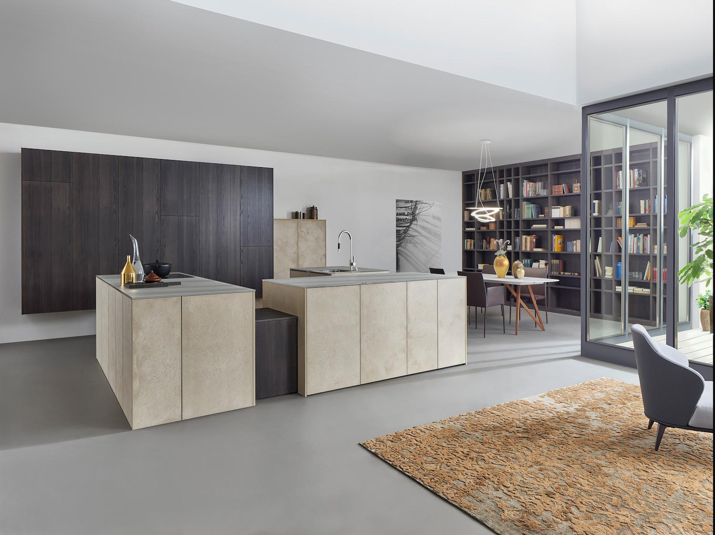 Küchenstudio Bingel&Klein - Stein Wohnküche Kücheninseln - Bücheregal