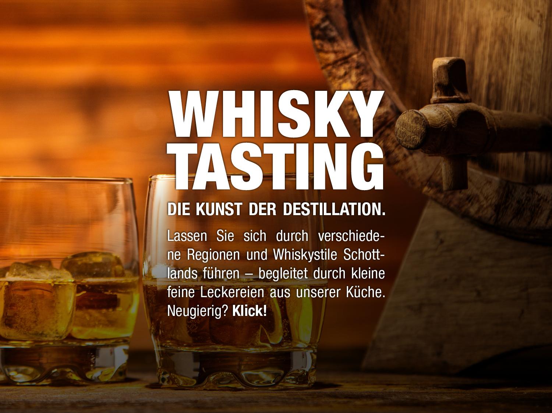 Küchenstudio Bingel&Klein Whisky Tasking Flyer Beschreibung - Klick